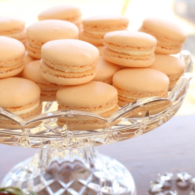 Passionfruit white chocolate French macarons