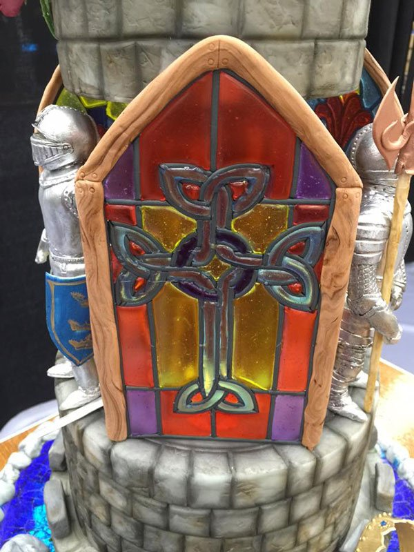 Stained glass cake topper video tutorial