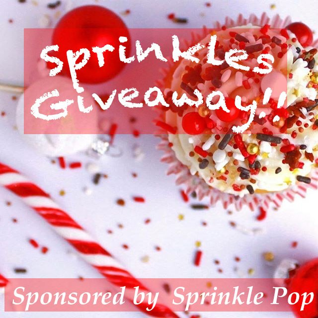 One lucky winner will receive three packs of beautiful sprinkle mixes from Sprinkle Pop for making your kaleidoscope cookie Christmas tree ornaments!