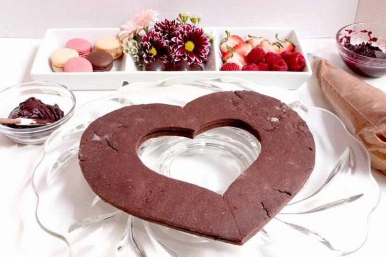 chocolate raspberry cream tart