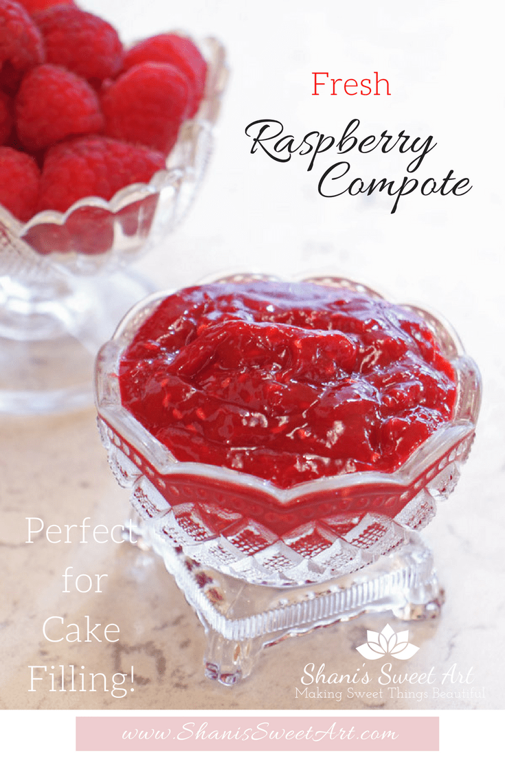 Fresh and mouthwateringly delicious raspberry compote recipe perfect for filling cakes. #raspberrycompote #fruitfilling #cakefilling
