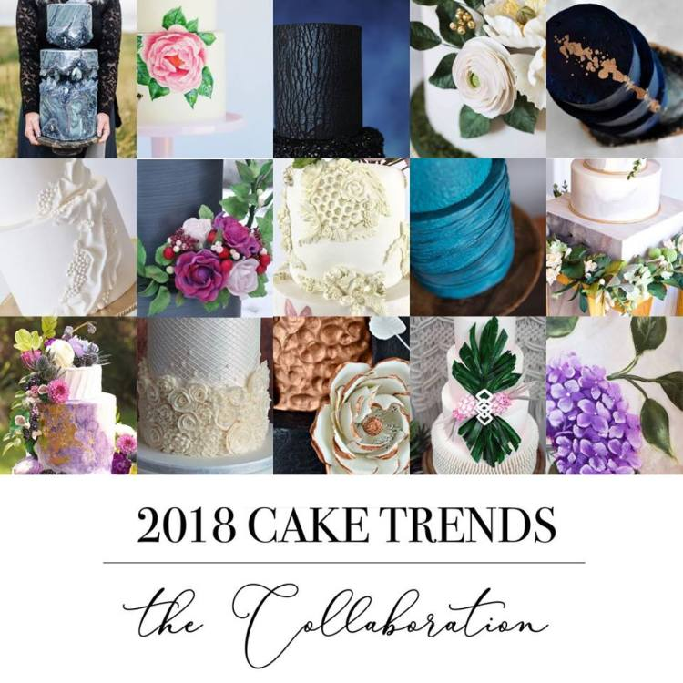 wedding cake trends 2018