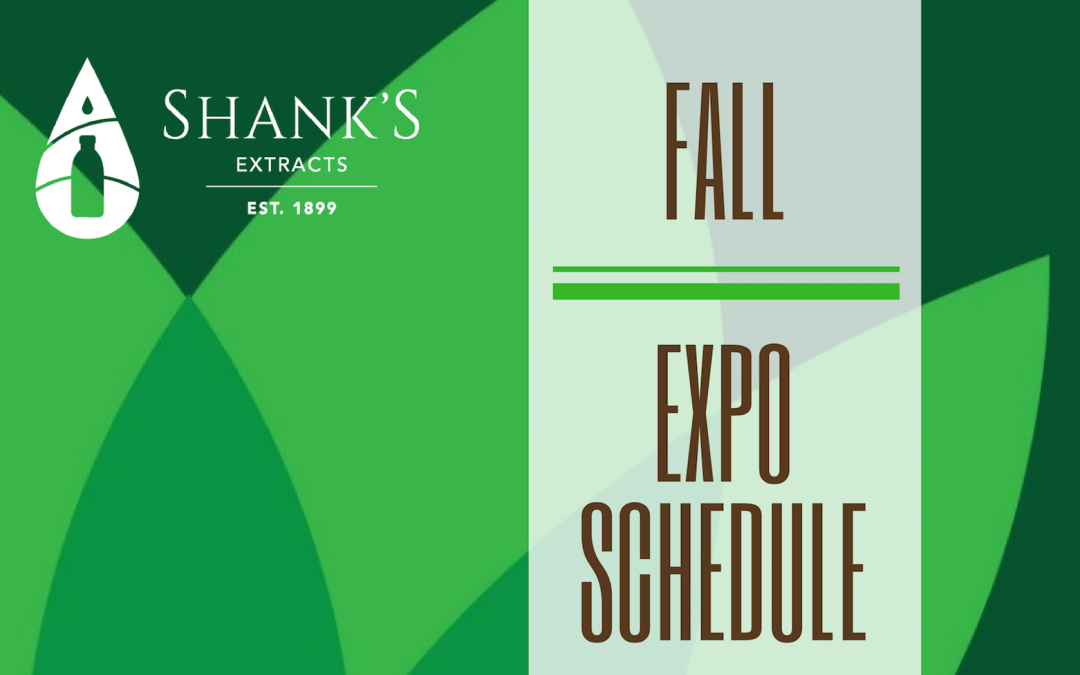 Shank's Fall Expo Schedule