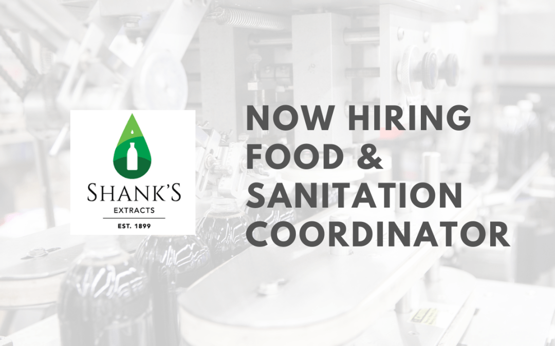 We are currently hiring a full time Food & Sanitation Coordinator