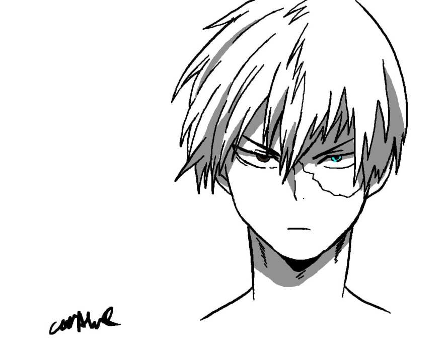 Todoroki Sketch - Izuku Midoriya the Character That Stands Out