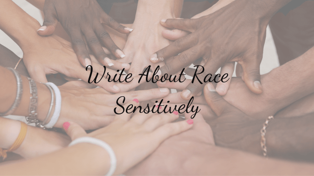 "Hands with ""How to Write About Race Sensitively"""