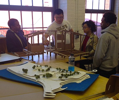 """This group is designing cabins for a """"Global Unity Camp."""""""