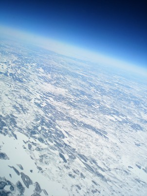 Somewhere over Canada