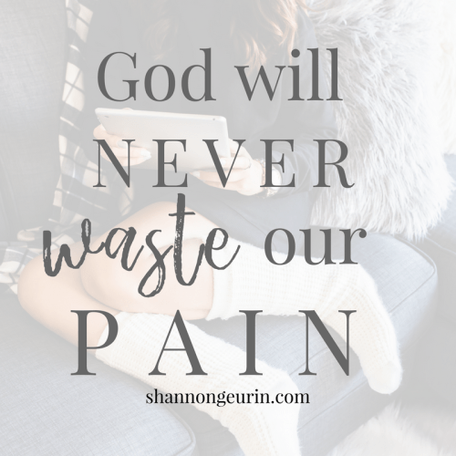 From Pain to Promise- God will never waste our pain!