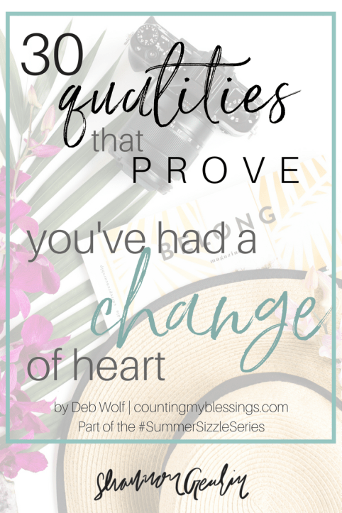 How do we know we've had a change of heart about something?