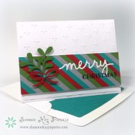 Stampin Up Modern Christmas Card Ideas - Shannon Jaramillo Stampinup