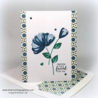 Stampin Up Moroccan Blossoms in Dapper Denim Card Idea - Shannon Jaramillo stampinup