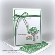 Rediscovering Cucumber Crush Just Because Card Ideas - Shannon Jaramillo stampin up