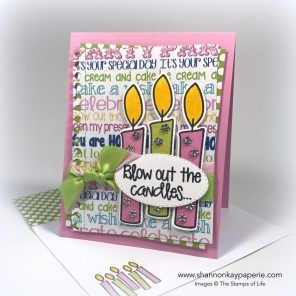 Blow Out the Candles Birthday Card ideas - Shannon Jaramillo The Stamps of Life