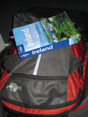 Lonely Planet and my Backpack