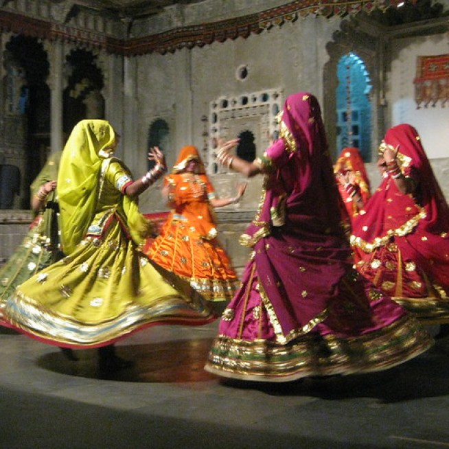 Indian women dancing