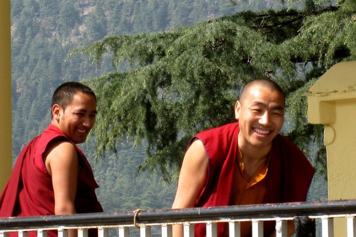Monks Debating in dharamsala, india