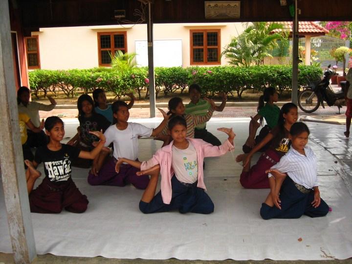 Practicing Khmer Dancing