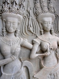 Dancers carved into the temples of Angkor Wat