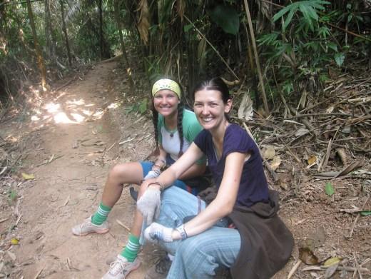 hiking in northern laos