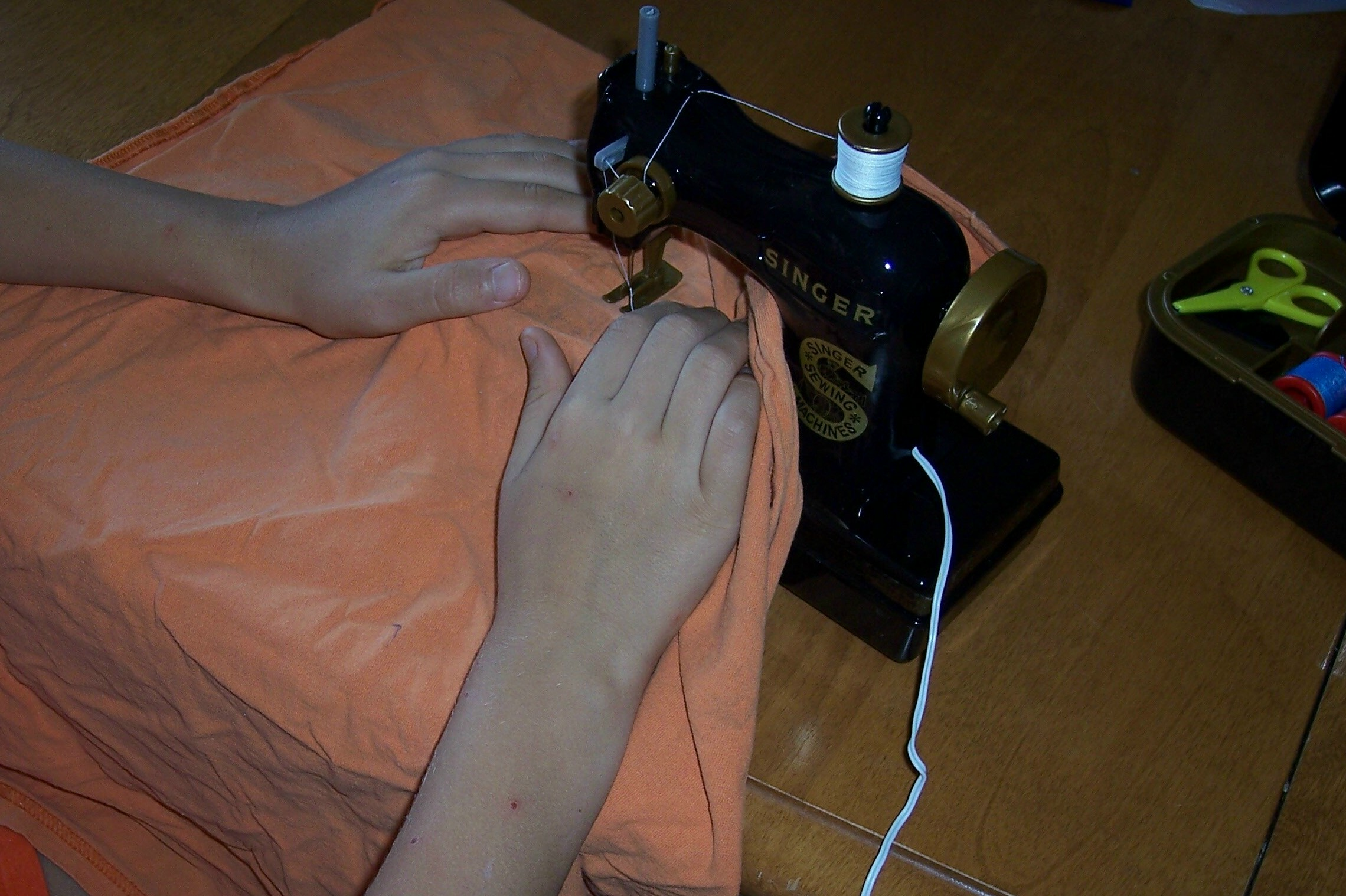 N's First Sewing Lesson