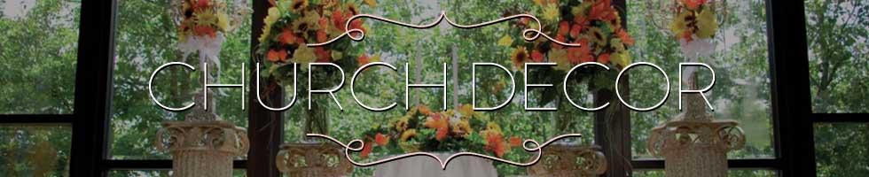 Shannon's Custom Florals Church Wedding Decorations (1)