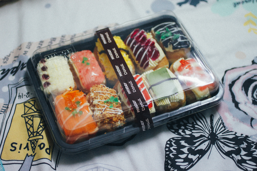 Sushi donuts from Mister Donut in Thailand.