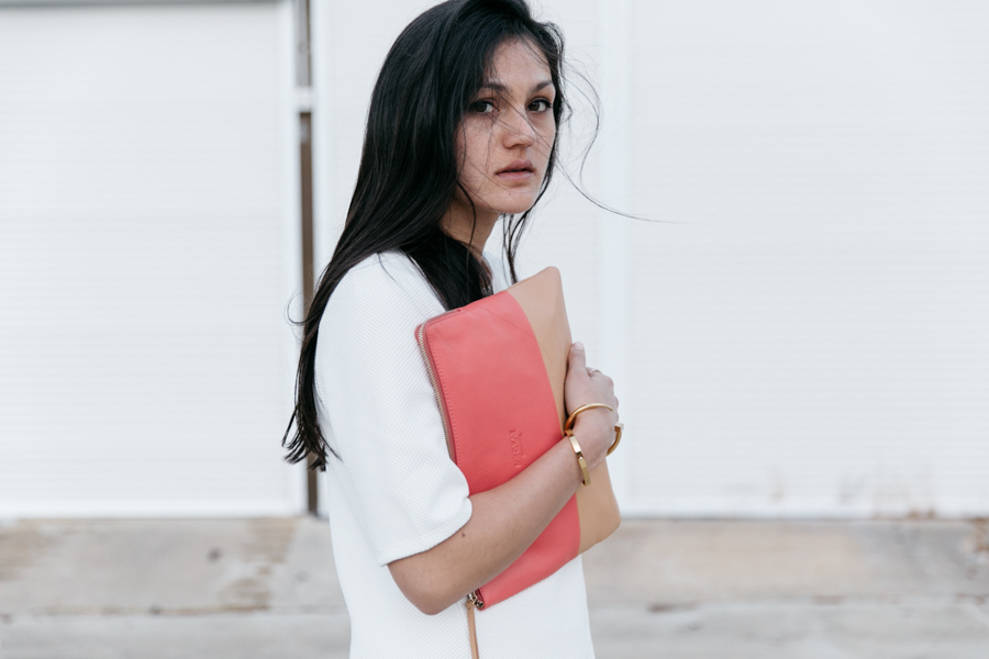 Minimalist fashion blogger style outfit.