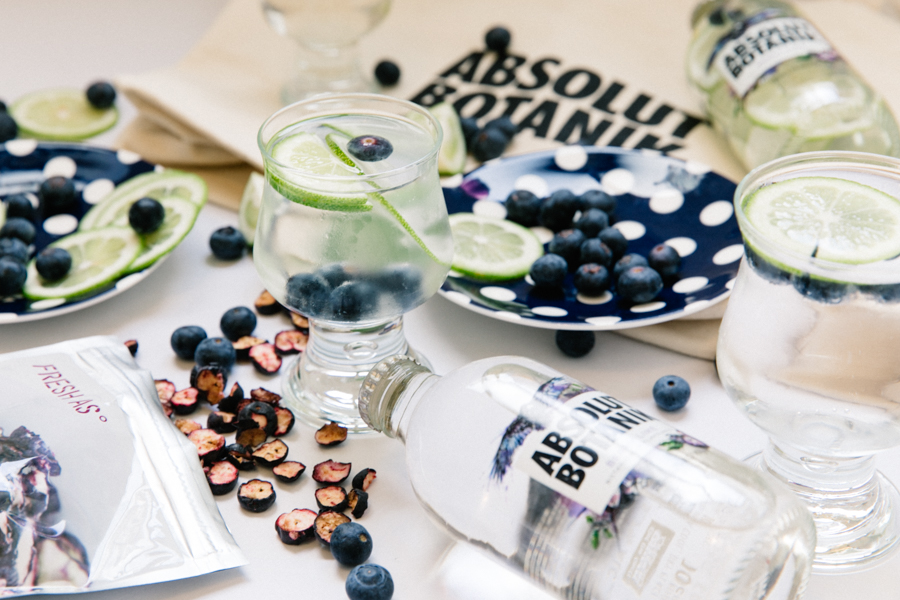 Light & refreshing summer drink featuring Absolut berry lime Botanik.