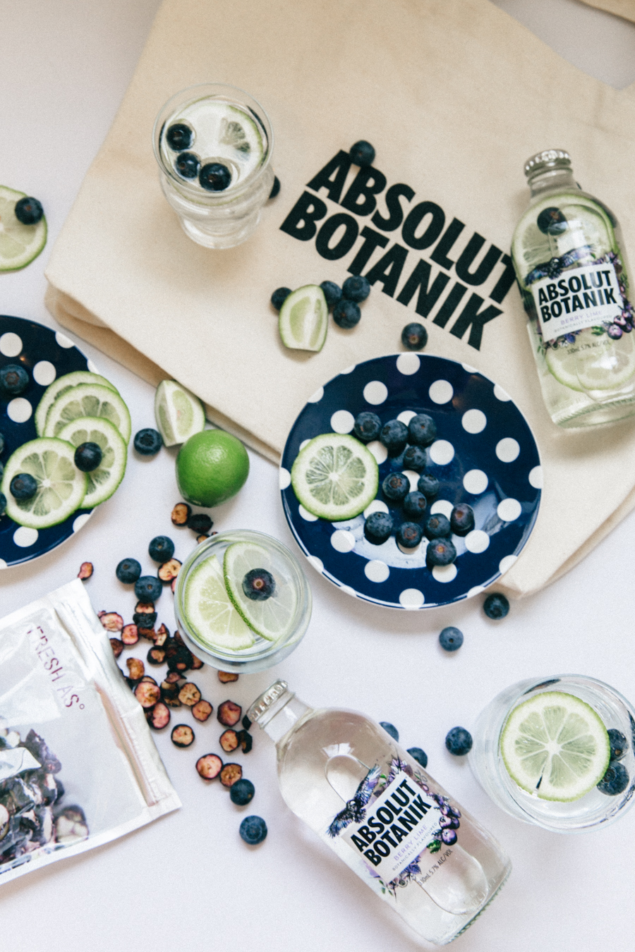 Absolut Botanik Vodka berry lime editorial collaboration.
