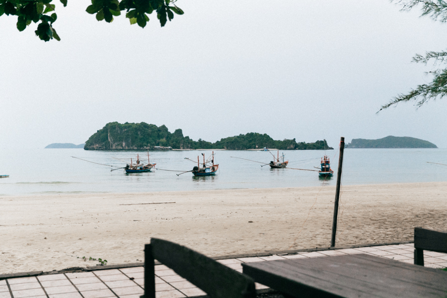 Quiet, secluded beach in Thailand.