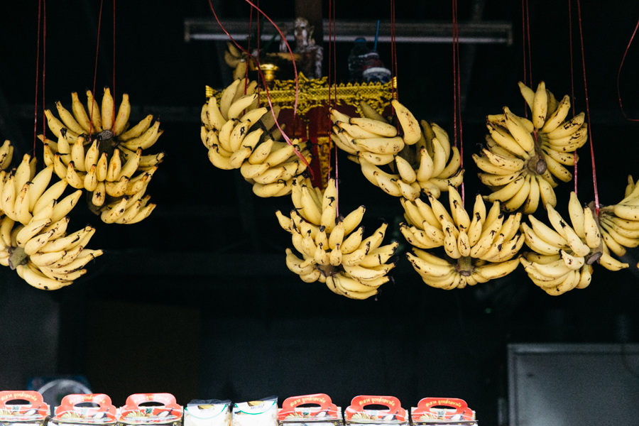 Street side stall selling bananas in Thailand. Thailand travel photo diary.