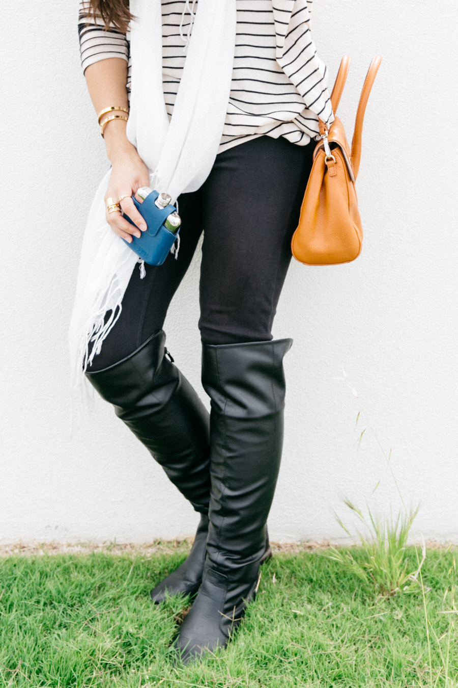 Over the knee boots outfit.
