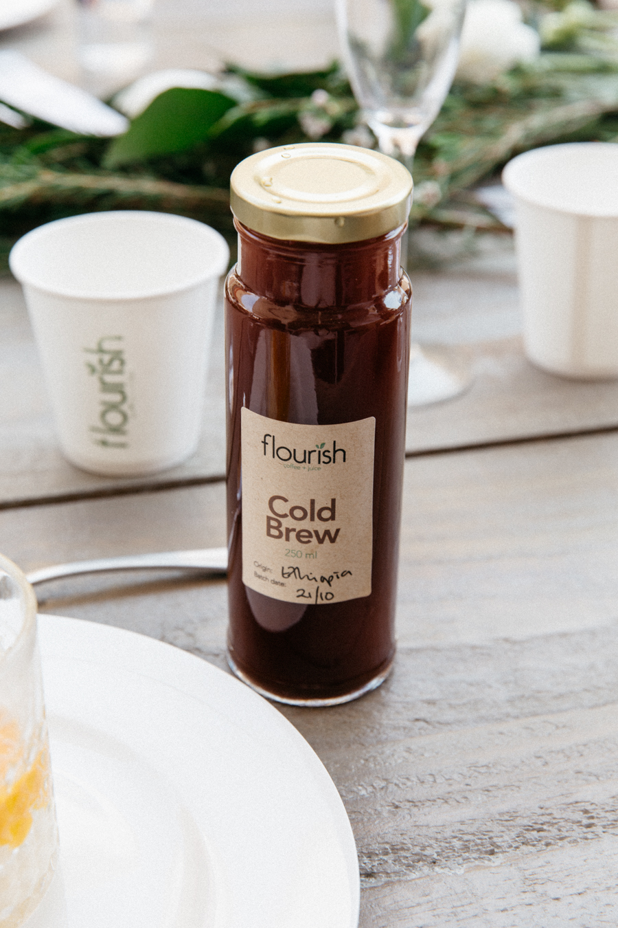 Flourish cafe, Ethiopian cold brew coffee.