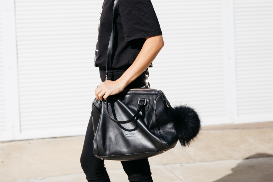 Minskat Copenhagen Mira bag in black leather.