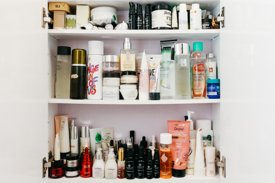 Beauty cabinet, Australian beauty blogger skincare reviews.