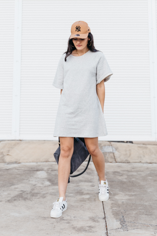 Sportluxe dress outfit.