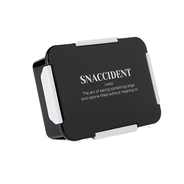 Snaccident lunch box container.