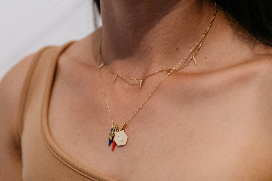 Initial pendant necklace from Orelia London.