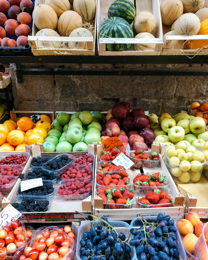 Fresh fruit in Florence, Italy.