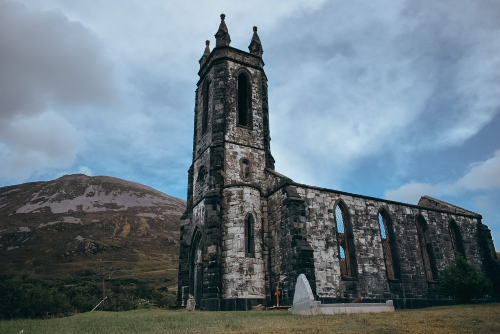 Dunlewey abandoned church, County Donegal, Ireland