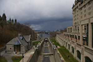 Lock between Chateau Laurier and Houses of Parliament