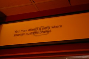 Great saying in the restaurant we visited in Chinatown