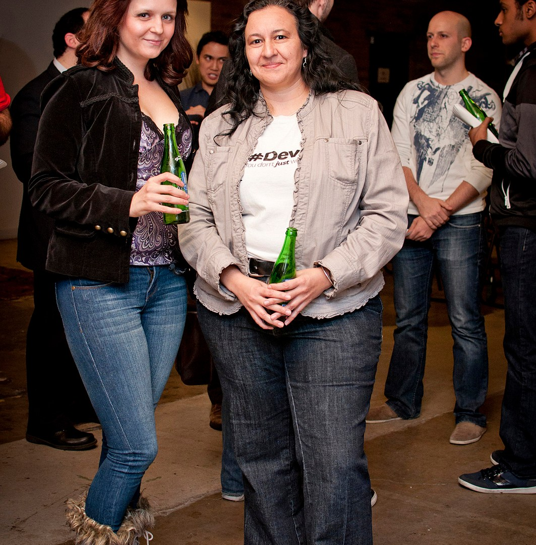 Ginny and I at the anniversary party for DevTO