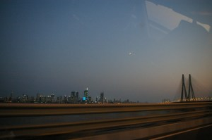 The view from my Uber ride home on the Sea Link in Mumbai