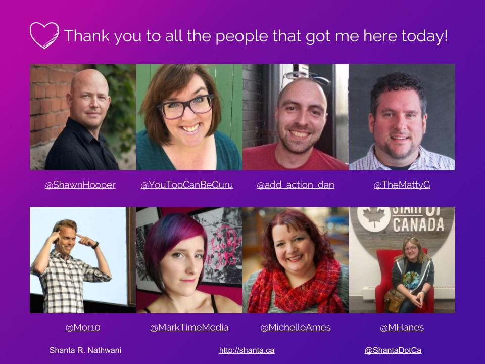 The amazing people that helped get me to WordCamp Ottawa 2017