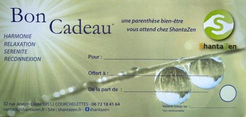 Bon cadeau Shantazen Douai Arras Lens Cambrai