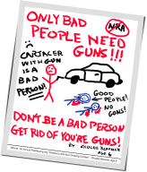 Anti Gun Violence Poster created by a 6 year old.
