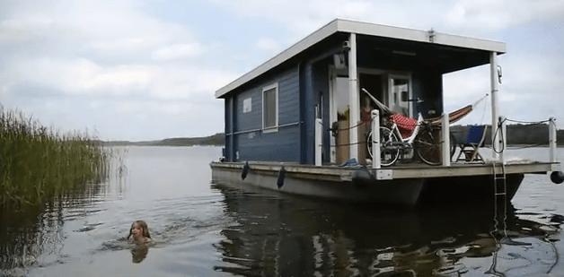 German Pontoon Boat | ShantyboatLiving.com