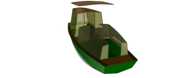 Padre Island Skiff 24' top front